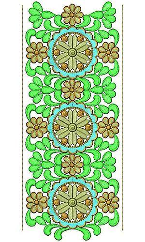 4768 Diseño caucásico del bordado del cordón de la manta