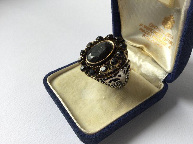 Victorian vintage mourning ring - Anello Vittoriano da lutto di Quieora su Etsy