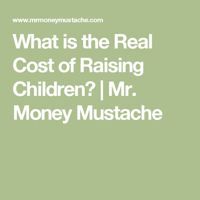 What is the Real Cost of Raising Children? | Mr. Money Mustache