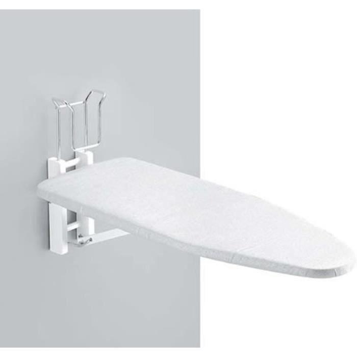 Planche à repasser murale Latina en bois blanc, L86cm - 115€