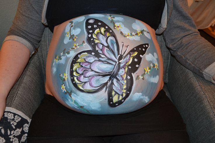 Zwangere buiken schilderen, altijd zo bijzonder fijn!