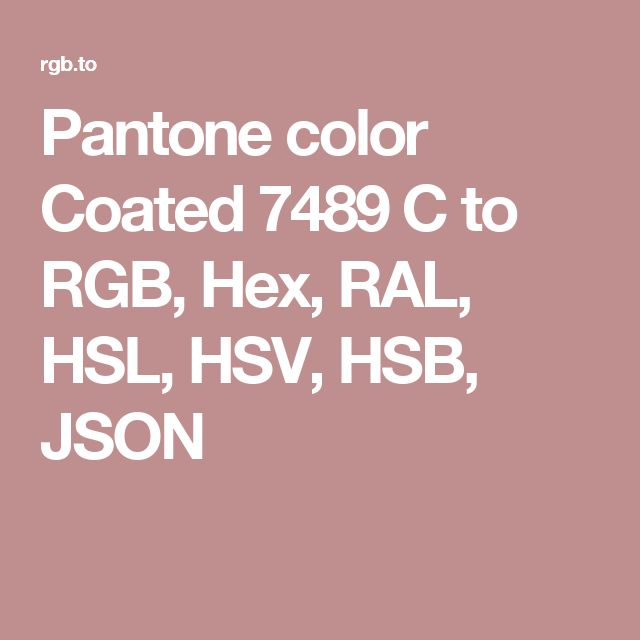 pantone color coated 7489 c to rgb hex ral hsl hsv