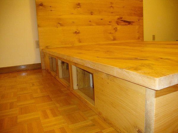 vieille planche meubles bois de grange quebec lit