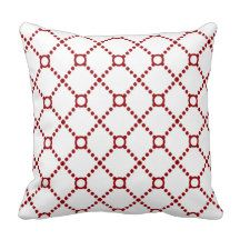 Modern red diamond circle throw pillow, for a sophisticated look in your living room. From $29.95 depending on the size you choose. #ThrowPillow #Cushion