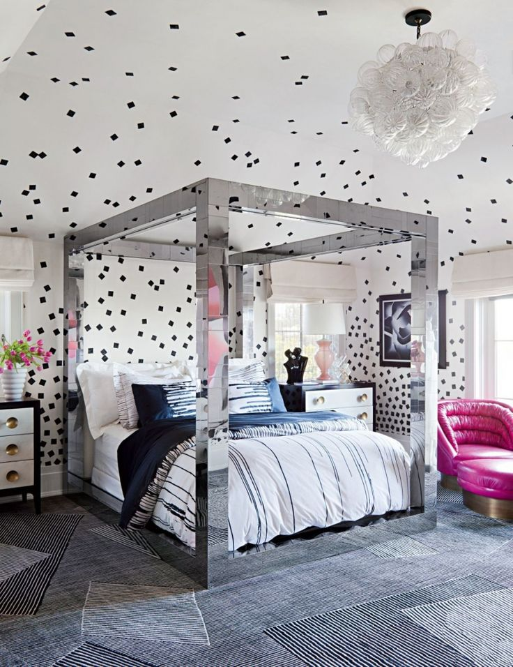 17 Best images about Pink Black and White Teens Room on Pinterest
