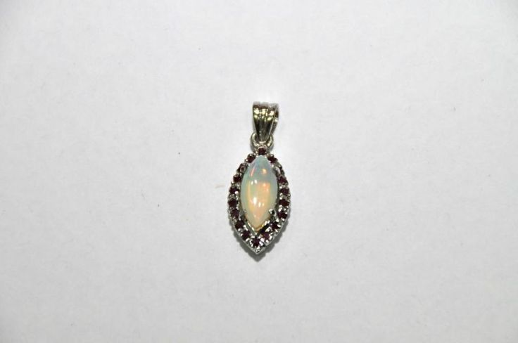 REAL ROYAL  Ruby/Opal Natural Genuine Gemstone Women Pendent 925 Silver Sterling #Handmade #Pendant