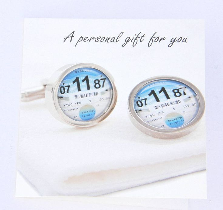 Personalised 1961 To 1977 Tax Disc Cufflinks from notonthehighstreet.com