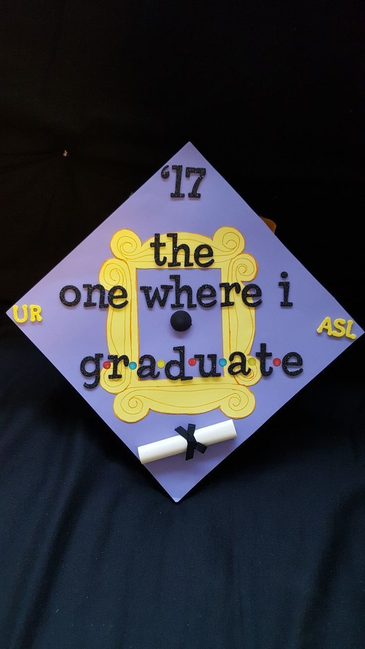 "Graduation cap on ""friends"" #awesomegraduationphotos - # graduation cap #awesomegraduationphotos #freunde"