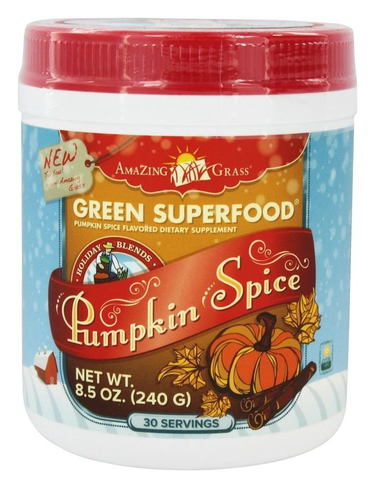Amazing Grass Pumpkin Spice Green SuperFood Powder: Just one of our favorite pumpkin spice snacks that we'll be munching on this Fall.