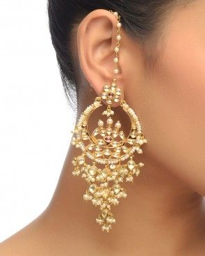 Kundan Earrings with Pearls