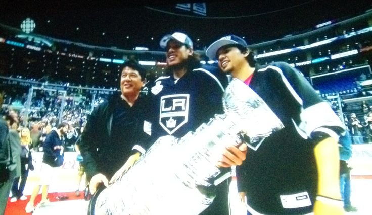 Jordan Nolan with father Ted and brother Brandon