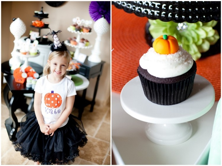 Halloween cupcake decorating party. So cute, you have to go to the