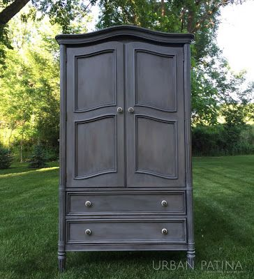 Urban Patina: Rescued Relics + Upcycled Junk: Painted Armoire: Furniture Makeover