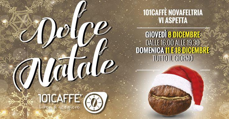 Il Natale è ancora più dolce con 101CAFFE' Novafeltria! Domani e domenica il negozio sarà aperto per soddisfare la vostra voglia di golosità. Vi aspettano tante promozioni e idee regalo!