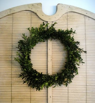boxwood wreath -never thought of using the clippings from my boxwood.