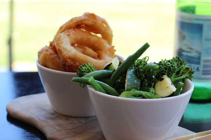 The best onion rings in South Australia @ The Elbow Room.