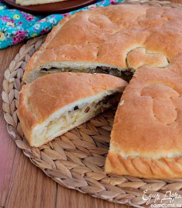 Постный пирог с капустой, рисом и грибами Вкусный, аппетитный постный пирог! Угощайтесь! #едимдома #готовимдома #рецепты #кулинария #пост #пирог