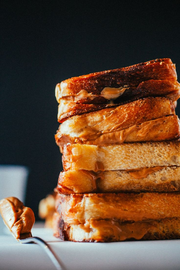 Fried Peanut Butter Sandwiches from @crepesofwrath