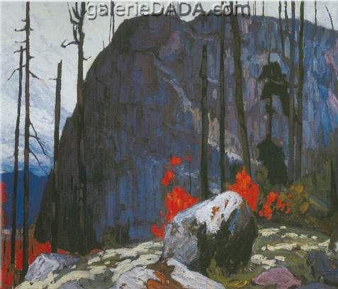 Lawren Harris,  Algoma Hill Fine Art Reproduction Oil Painting