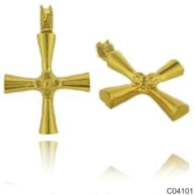 Σταυρός Κ14 από κίτρινο χρυσό. 38x25χιλ. #marizaart #greekart #art #greece