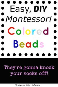 Easy on the wallet, quick to make, and classically educational! Make some colored beads today!