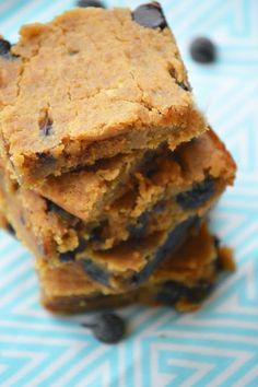 21-Day Fix Approved Peanut Butter Chocolate Chip Blondies!