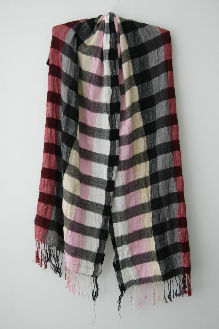 Scarf - Brand New! checked scarf - multi-coloured - Christianto | eBay