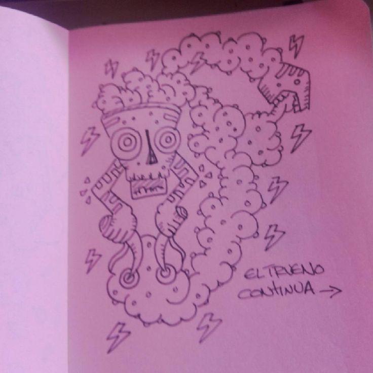 """""""Dr-w-ng #drawing #dibujo / el trueno continua --->"""""""