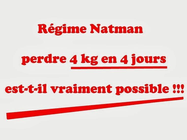 Regime Natman - téléchargez ce régime de 4j en PDF. Ce régime vous permet de maigrir rapidement et perdre plus de 4 kilos en moins de 4 jours