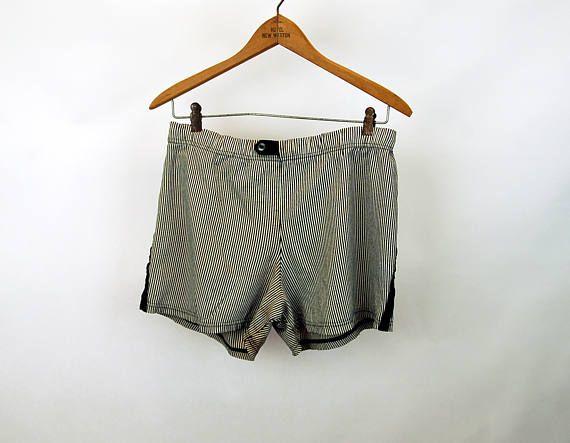 1950s 60s mens swimming trunks bathing suit drawstring waist