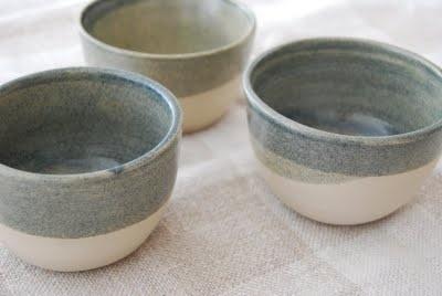 half glazed bowls, maria carlander