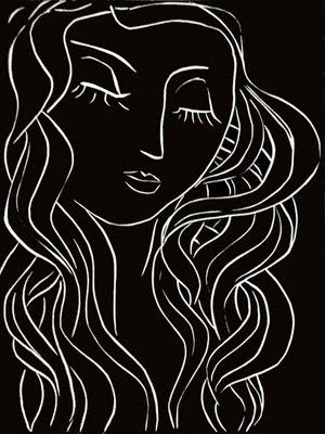 Henri Matisse - Pasiphae Plate 5: Sleep, Sleeper with Long Eyelashes - Original linocut on Arches vellum - 1944