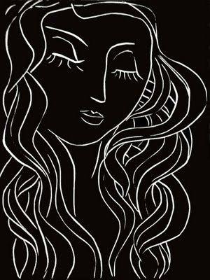 Henri Matisse - Pasiphae Plate 5: Sleep, Sleeper with Long Eyelashes - Original linocut on Arches vellum - 1944