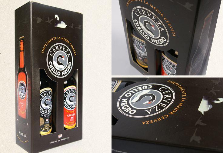 Diseño Pack de dos unidades para Cerveza Cuello Negro