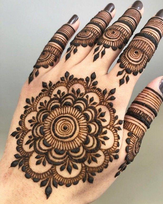 mehndi design for back palm
