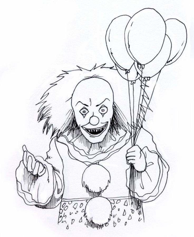 Pennywise Coloring Pages Ideas, Scary But Fun   Scary ...