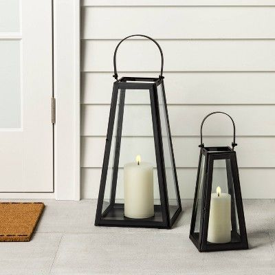 Metal Lantern Black – Hearth & Hand with Magnolia, Size: Small