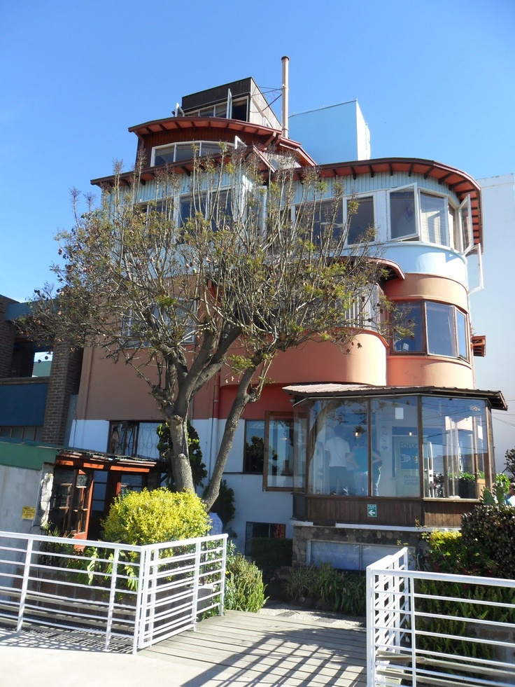 Casa de Pablo Neruda, Valparaiso Chile, overlooking the Pacific