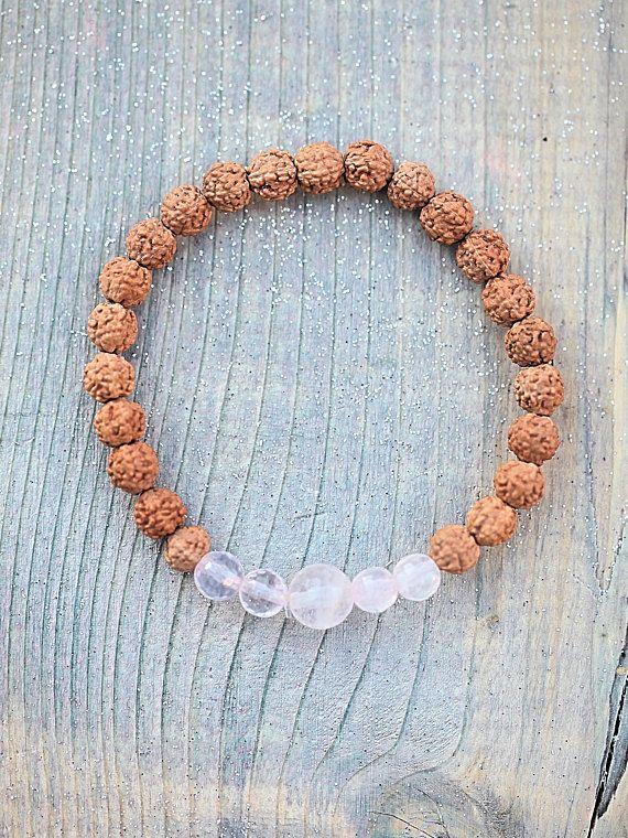 Beaded Bracelet Rose Quartz Gift Pink For Women Love For