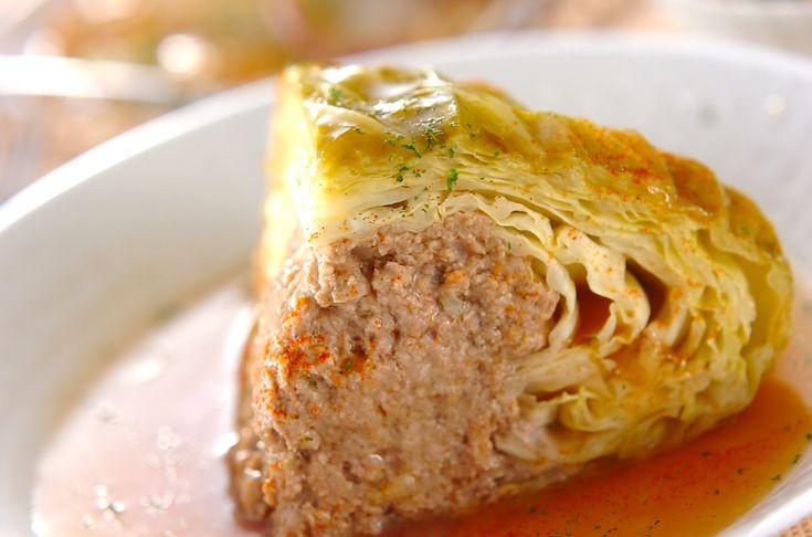 まるごとキャベツ煮込み【E・レシピ】料理のプロが作る簡単レシピ/2006.12.04公開のレシピです。