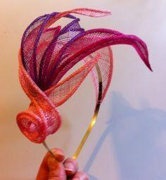 sinamay flowers - Google Search