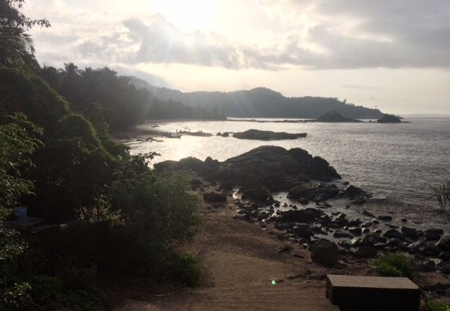 Om beach sunrise in Gokarna #india #travel