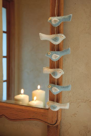 Little Birds Garland with pattern