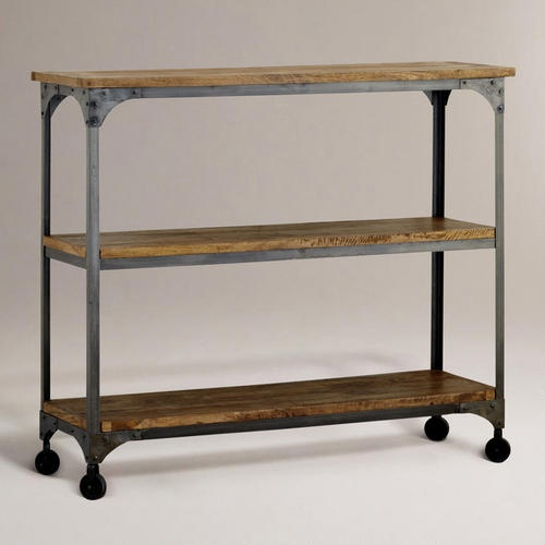 Wood And Metal Aiden 3 Shelf Console Table Cookbook
