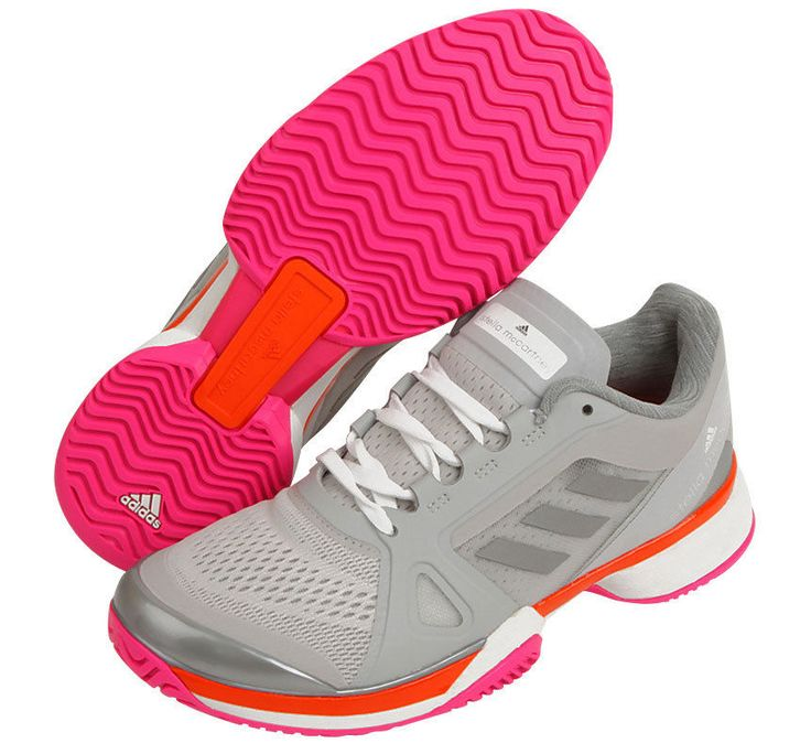 adidas aSMC Barricade 2017 for Women's Tennis Shoes Sports Gray Pink BY1620