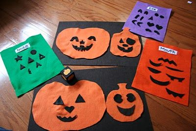 Felt Pumpkin Game. roll a dice to see what to put on the pumpkin next. :) - Re-pinned by #PediaStaff.  Visit http://ht.ly/63sNt for all our pediatric therapy pins