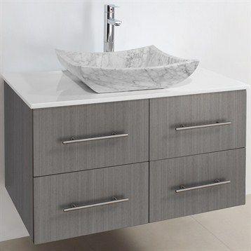 Photography Gallery Sites Bianca Wall Mounted Modern Bathroom Vanity Grey Oak Free Shipping
