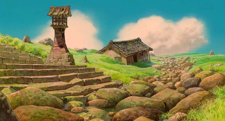 """Spirited Away 千と千尋の神隠し"" by Kazuo Oga - Background Art 