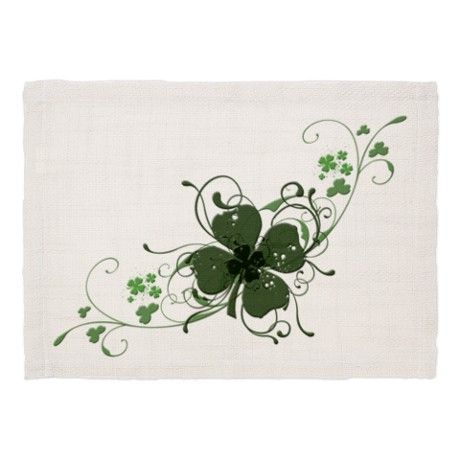 Elegant Shamrock Design Dinner Placemats                                                                                                                                                     More