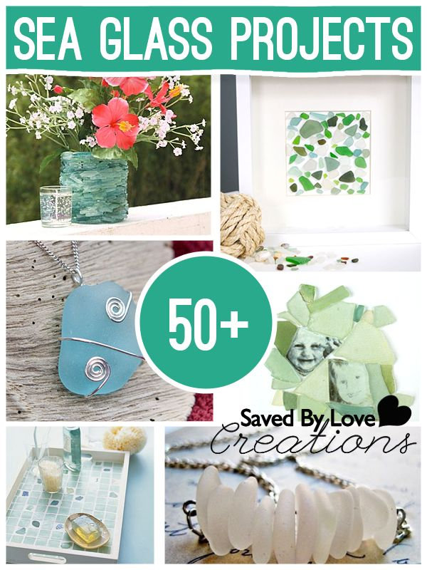 50+ Sea Glass Tutorials with Jewelry, home decor and more @savedbyloves